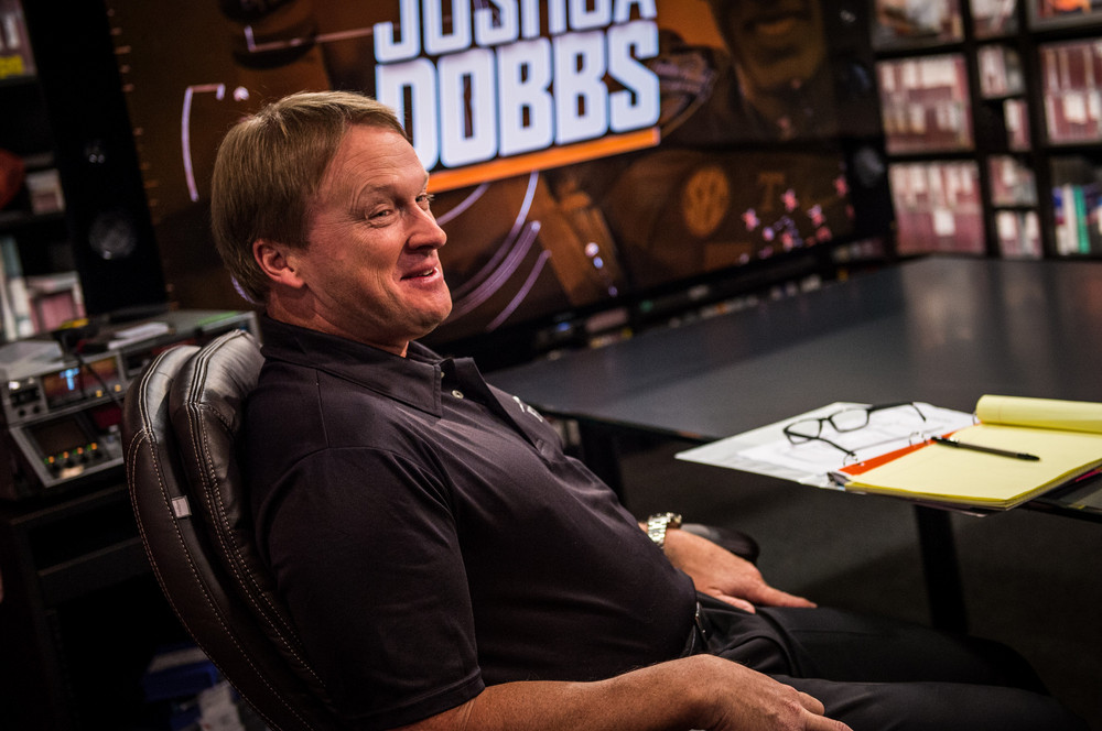 Bay Lake, FL - March 16, 2017 - Wide World of Sports: Jon Gruden during the 2017 class at Gruden Camp (Photo by Heather Harvey / ESPN Images)