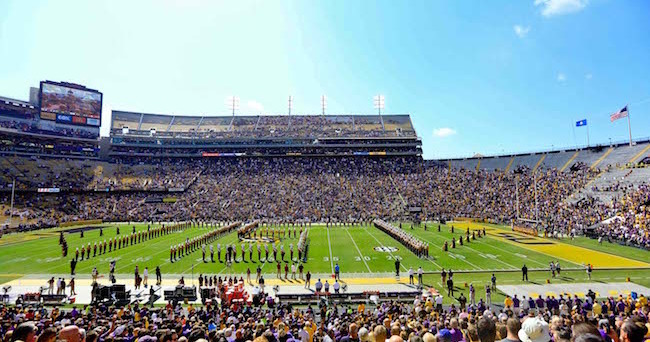 Oct 10, 2015; Baton Rouge, LA, USA; A general view prior to kickoff of a game between the South Carolina Gamecocks and the LSU Tigers at Tiger Stadium.  Mandatory Credit: Derick E. Hingle-USA TODAY Sports