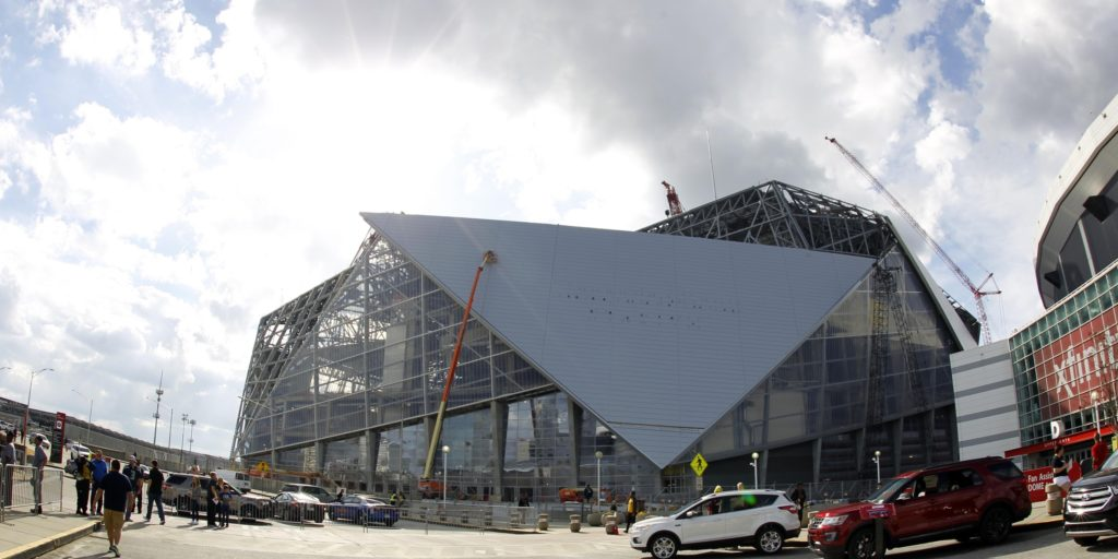 New mercedes benz stadium is scheduled to host alabama vs for Mercedes benz stadium season tickets