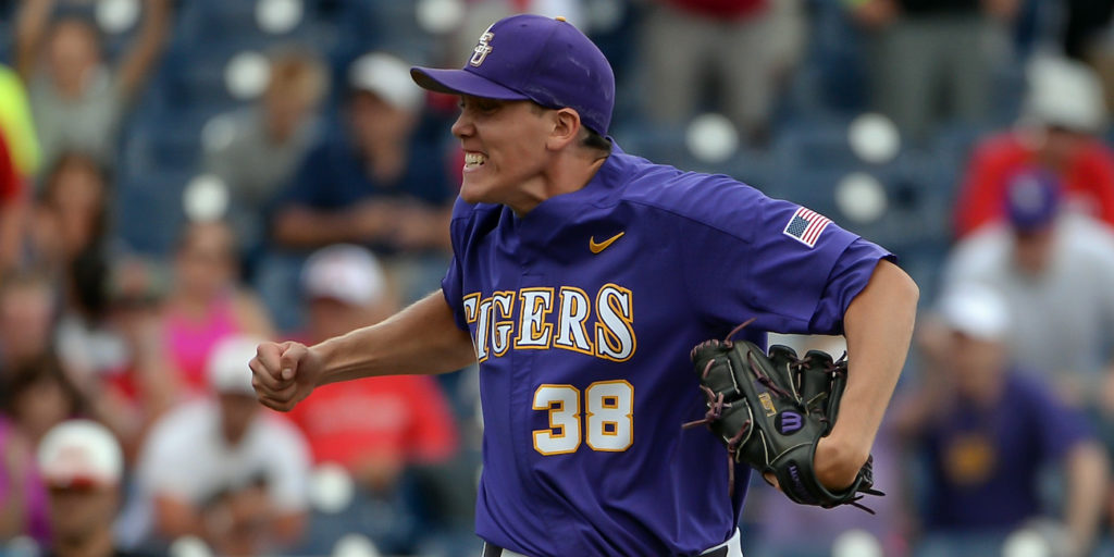 photo lsu pitcher zack hess gets gift from