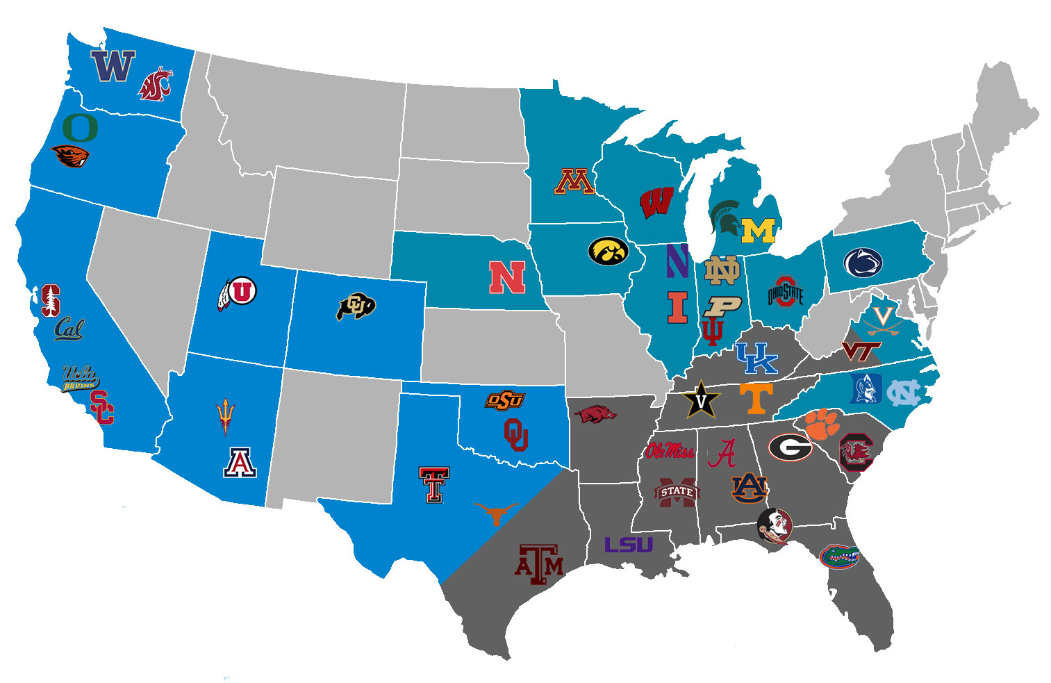 Redoing Realignment: The SEC, Big Ten and Pac-12 form 3