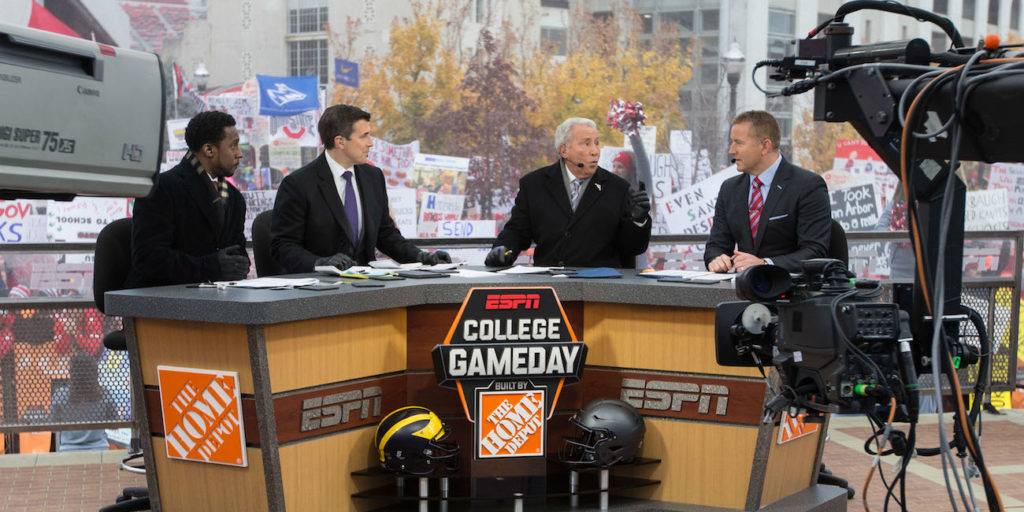 thursday night football tomorrow college football gameday schedule