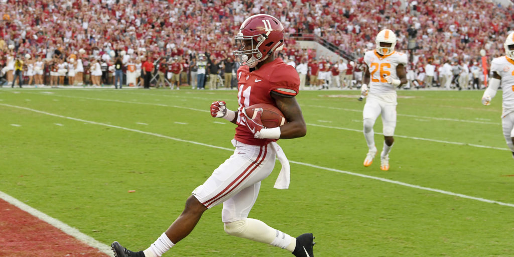 Incredible TD streak earns Alabama WR Henry Ruggs III a ...