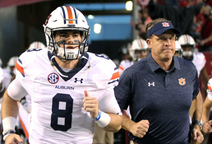 35d6cc7d7 Gus Malzahn thankful to have Jarrett Stidham back  You have to have a great  QB to win a championship