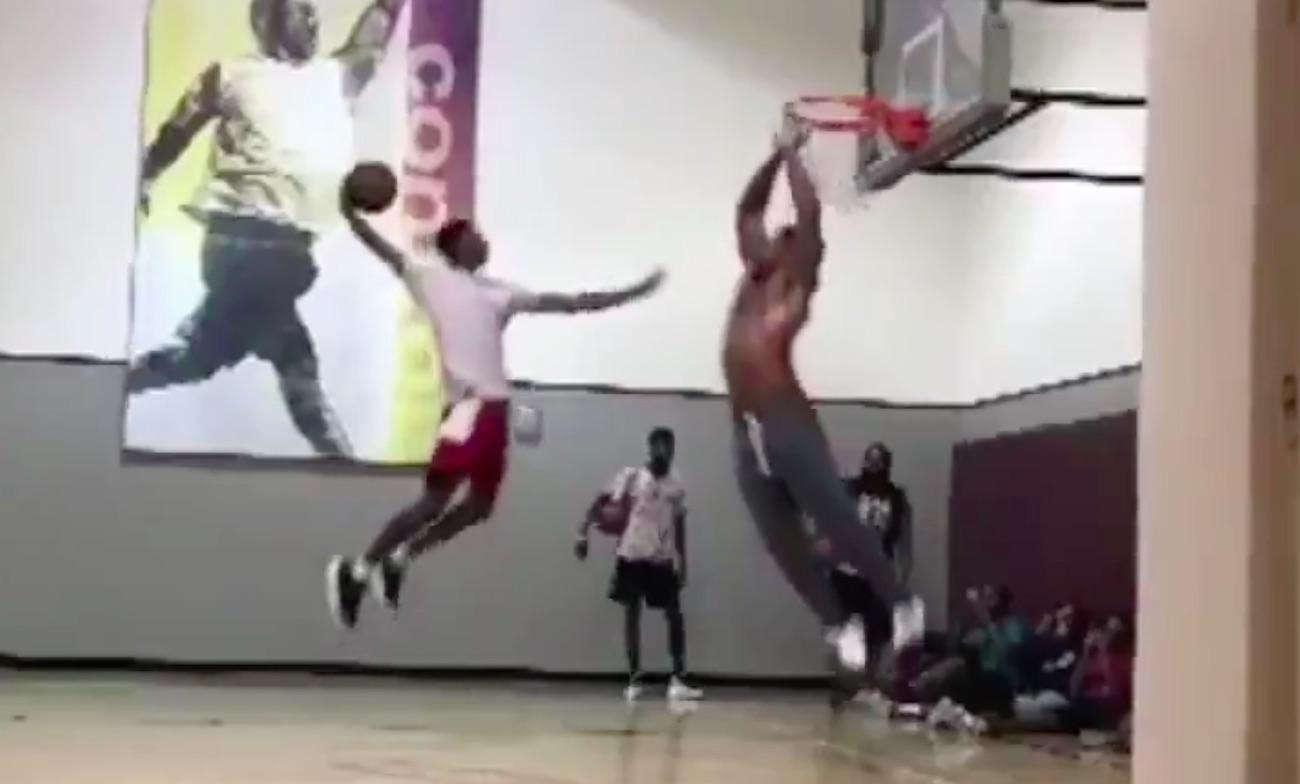WATCH Should Myles Garrett switch to basketball This block is ...