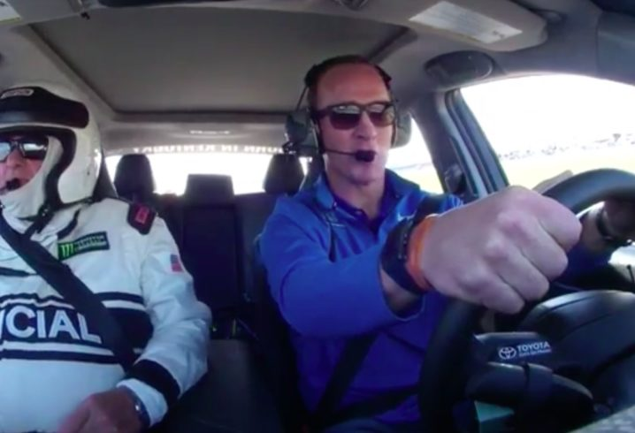 Watch Peyton Manning Shows Great Form While Driving Daytona 500 Pace Car