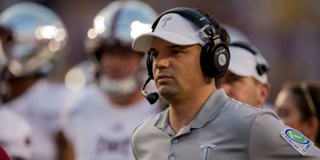 LOOK: Troy coach Neal Brown sends title ring to family of ...