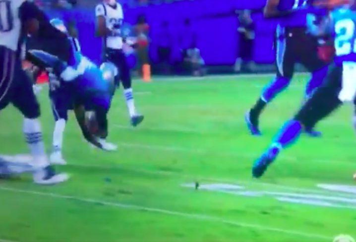 85593ecdc090 WATCH  Cam Newton has scary face-plant during meaningless preseason game