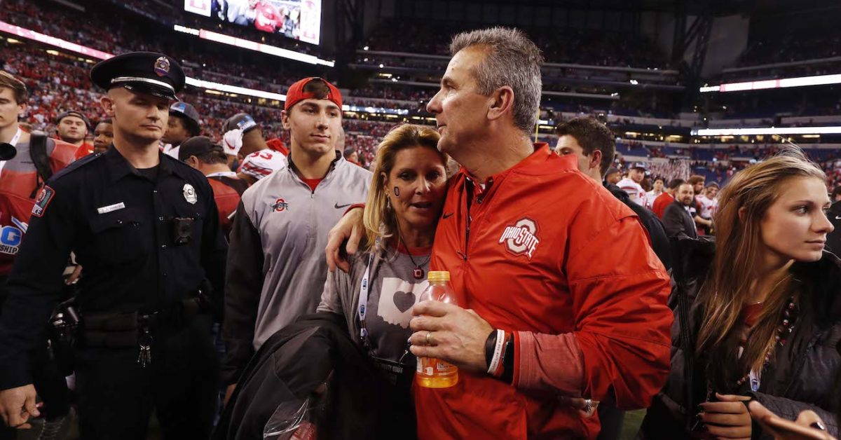 Urban Meyer's wife, Shelley, has snarky response to viral Nick Saban video from 2014