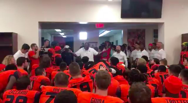 Watch Dino Babers Locker Room Speech Following Win Over