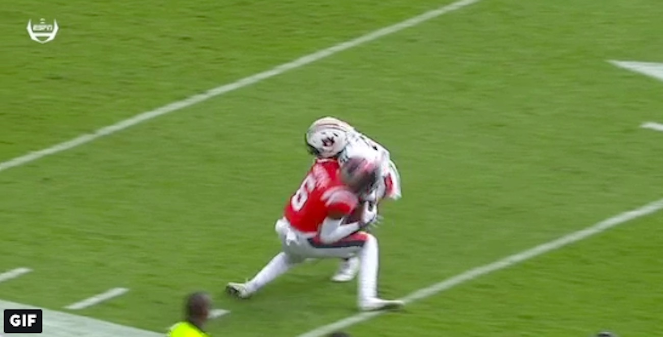 WATCH: Auburn safety allowed to remain in game after ...