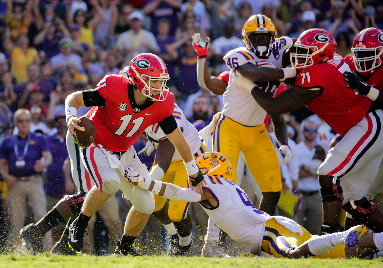 WATCH: Film review shows touchdown throws Jake Fromm ...