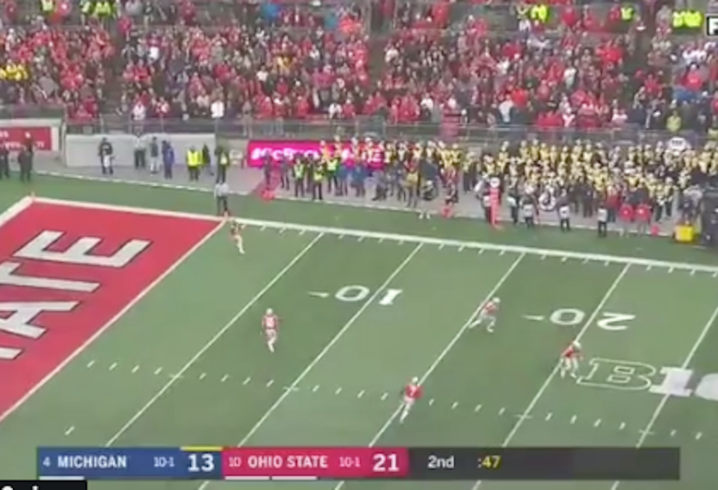 Watch Disastrous End To First Half For Ohio State Against Michigan