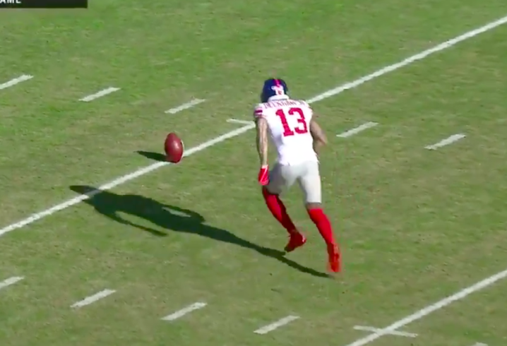 watch odell beckham shows off ridiculous kicking skills in warmups