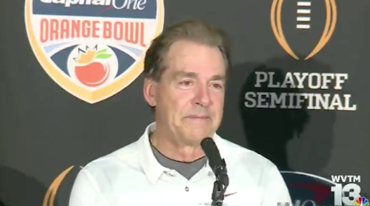 WATCH: Nick Saban comments on breaking headset during Orange