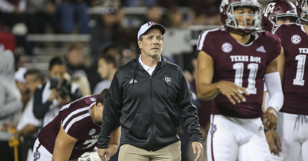 Jimbo Fisher says sophomore Texas A&M running back may never play football again