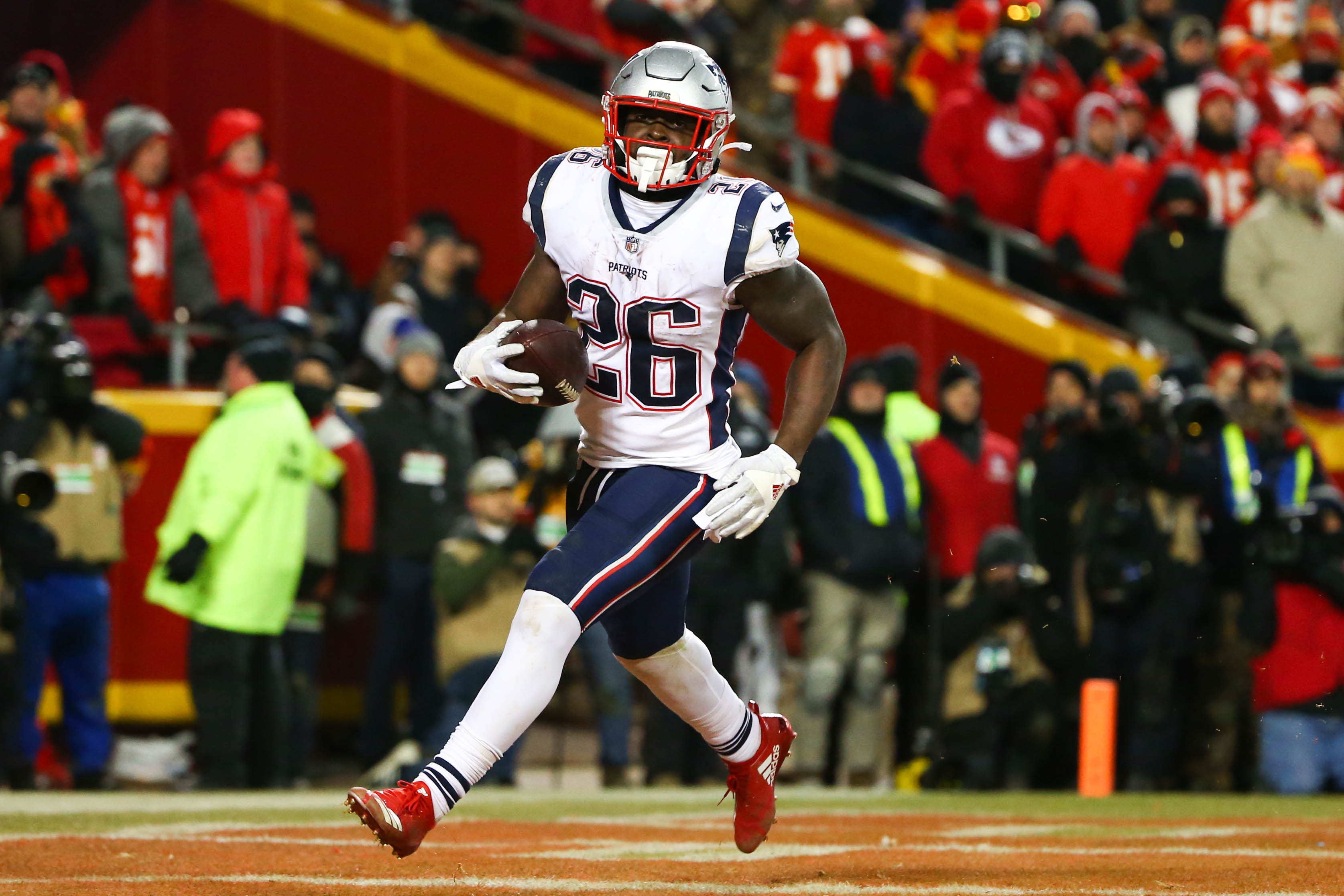 Sony Michel has already set rookie rushing touchdown mark in