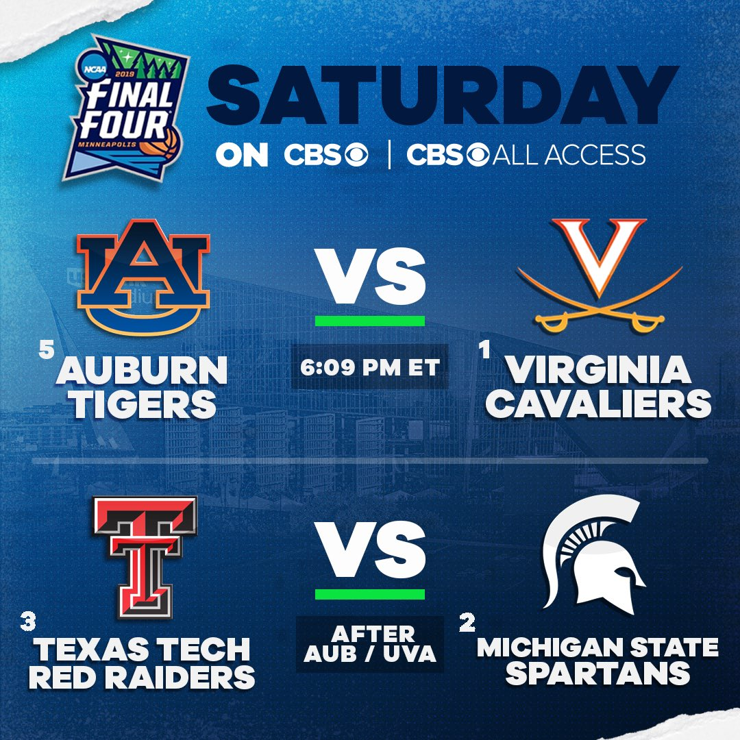 Final Four 2019 schedule: Tipoff times, betting lines