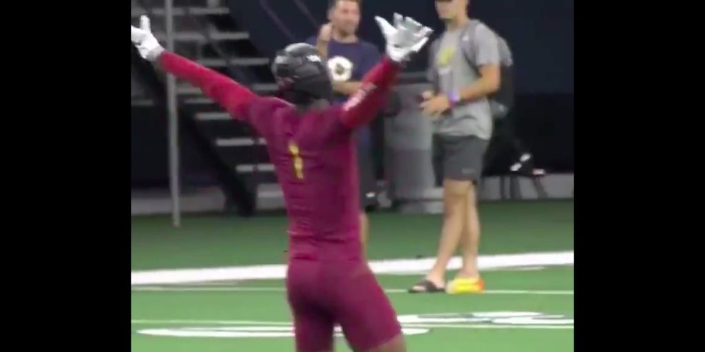 WATCH: Texas A&M WR commit Demond Demas has great showing at The Opening, pulls a Terrell Owens move