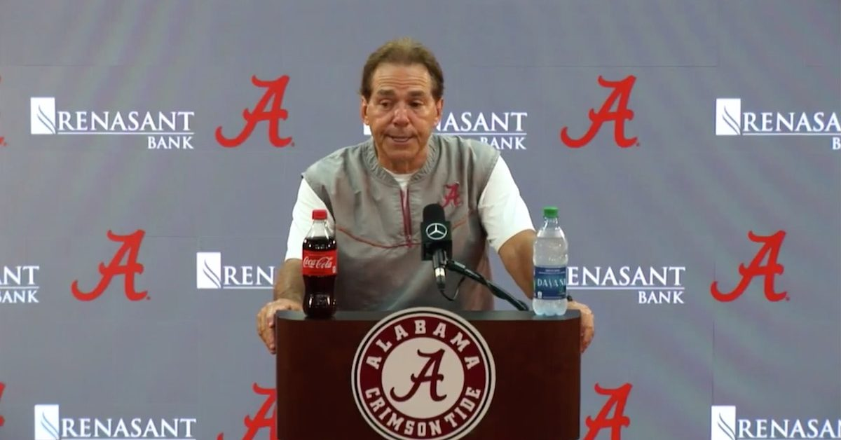No time to party? Nick Saban says he's never been to a tailgate