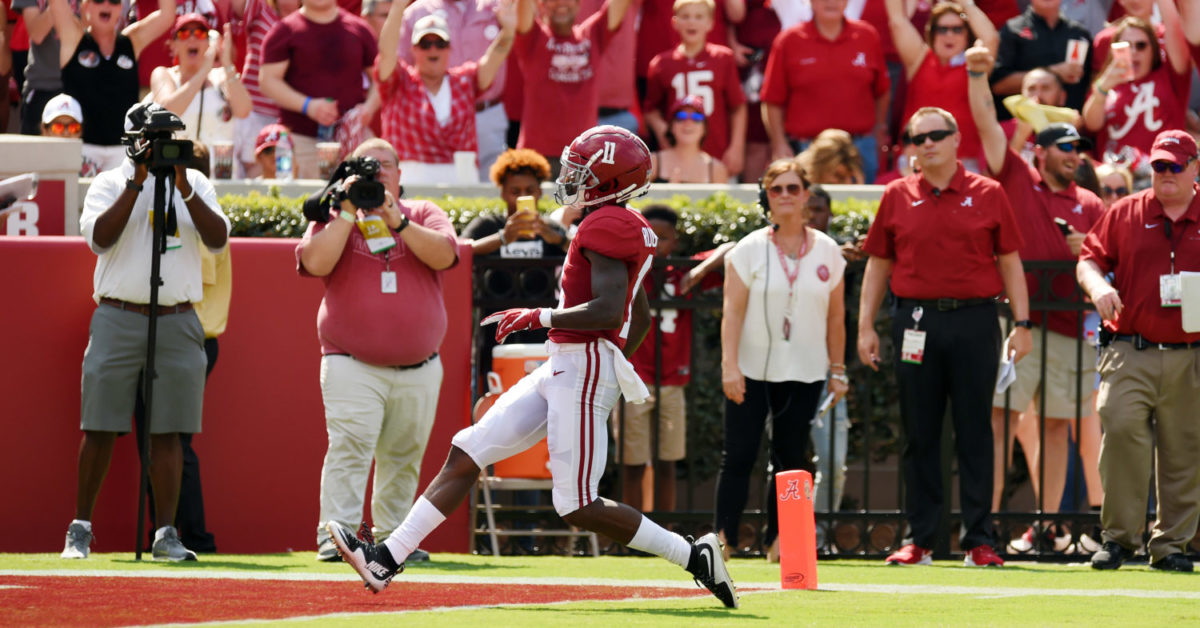 Alabama WR Henry Ruggs III clocked at amazing speed during touchdown run against South Carolina