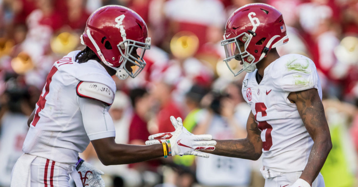 Seriously? Alabama WRs use Rock, Paper, Scissors to decide routes