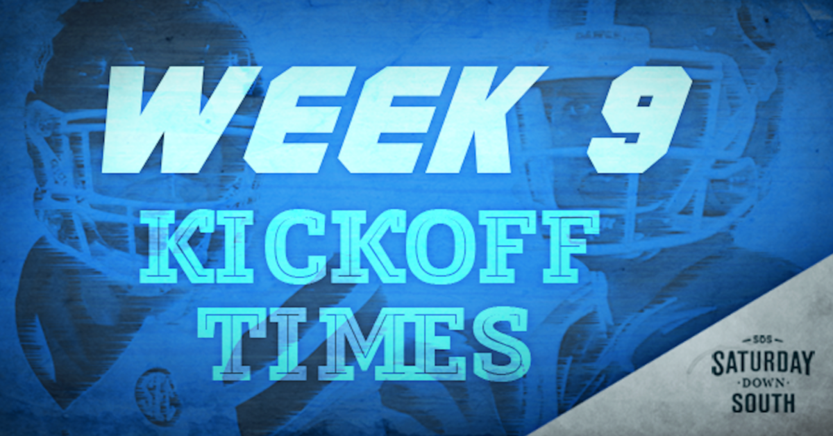 SEC announces Week 9 kickoff times, TV broadcast schedule