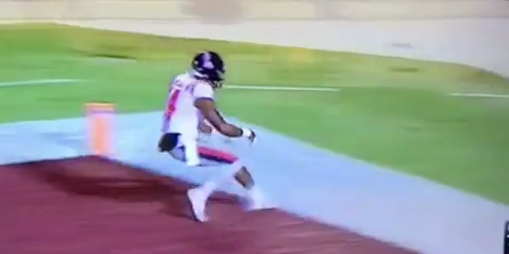 WATCH Ole Miss WR DK Metcalf Scores 63 Yard TD Penalized For Inappropriate Gesture