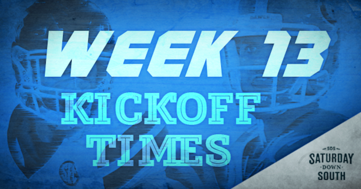 SEC announces Week 13 kickoff times, TV broadcast schedule