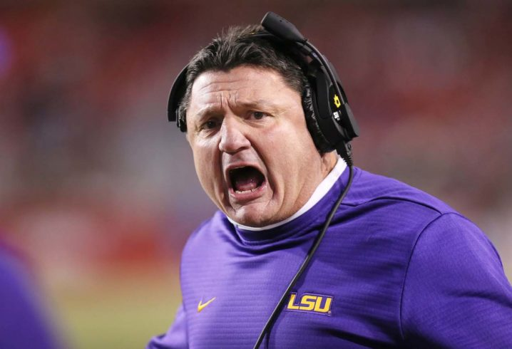 afe9f2ac2 Ed Orgeron announces that 2 LSU players are suspended for Fiesta Bowl  against UCF