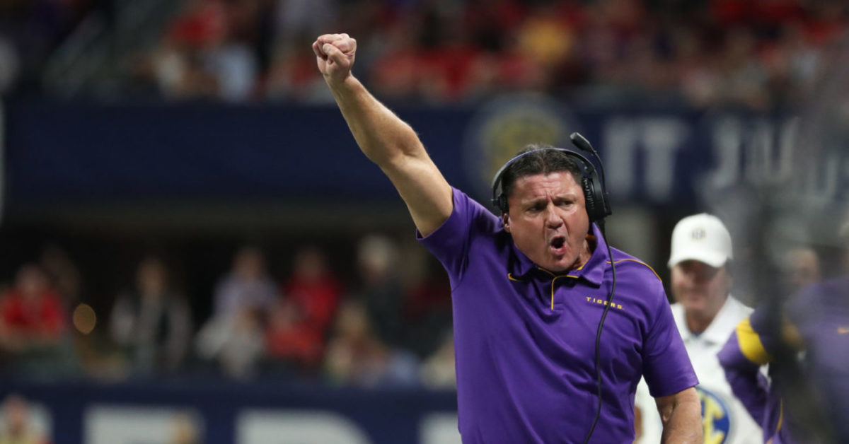Ed Orgeron announces former LSU WR hired as part of support staff