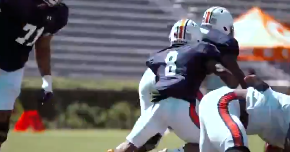Auburn shares video of Shaun Shivers' 80-yard touchdown ...