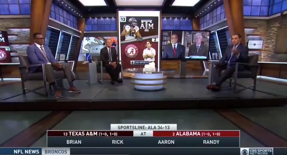 Cbs Sports Analysts Predict Alabama Texas A M Game