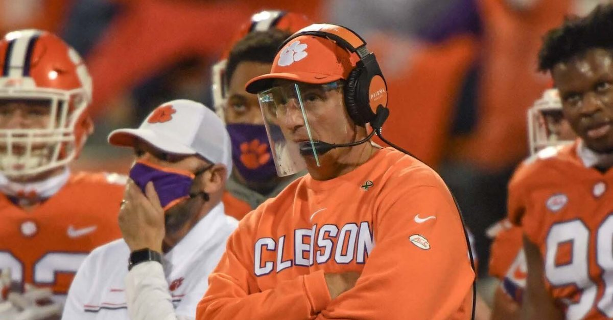 Dabo Swinney again gets heated discussing FSU postponing game: 'I don't give a crap what they say' - Saturday Down South