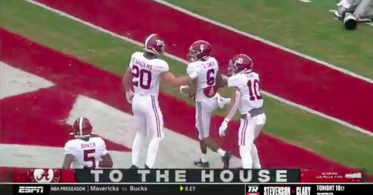 DeVonta Smith for Heisman? Star Alabama WR pads his stats with incredible punt-return TD