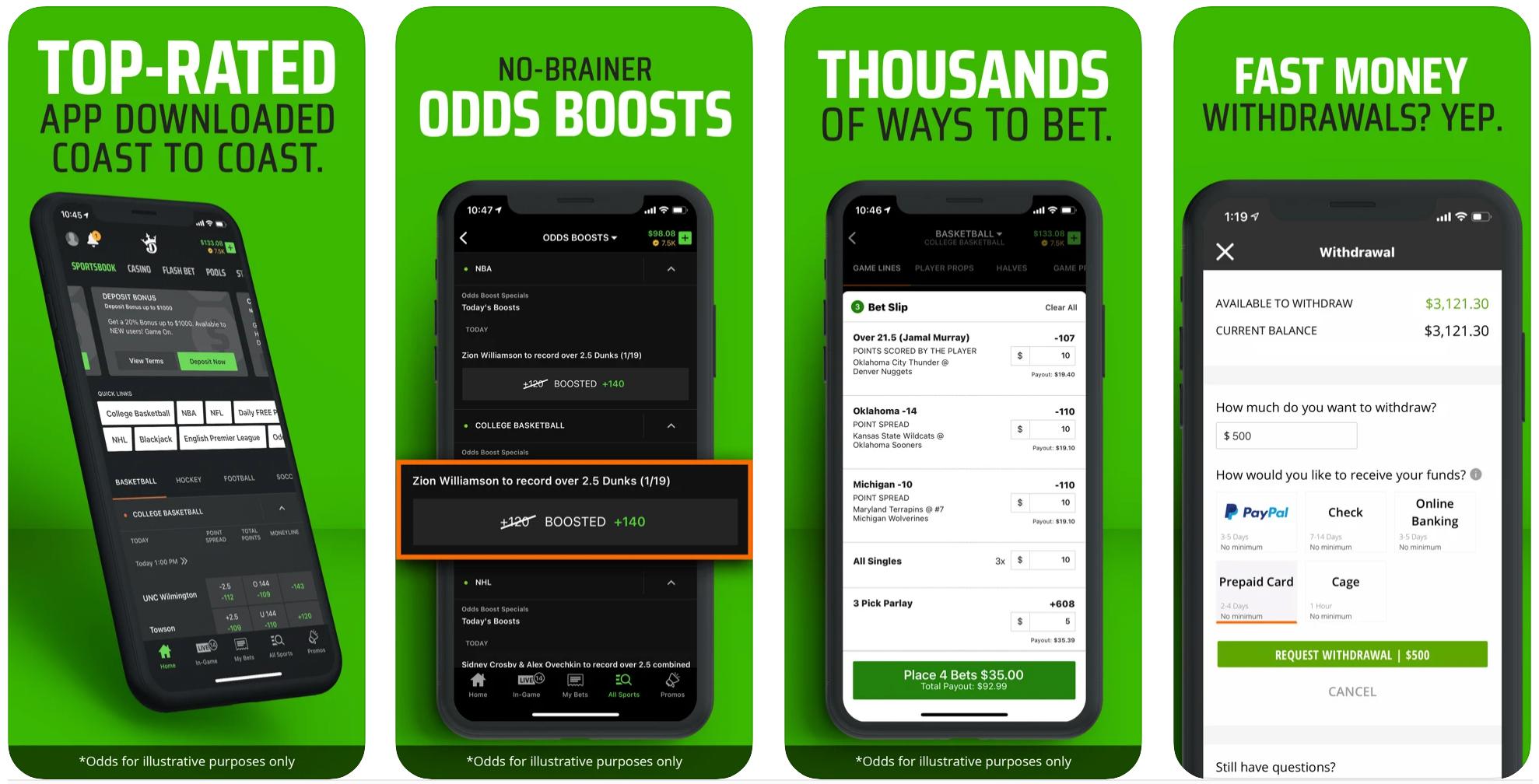 DraftKings Sportsbook Mobile App