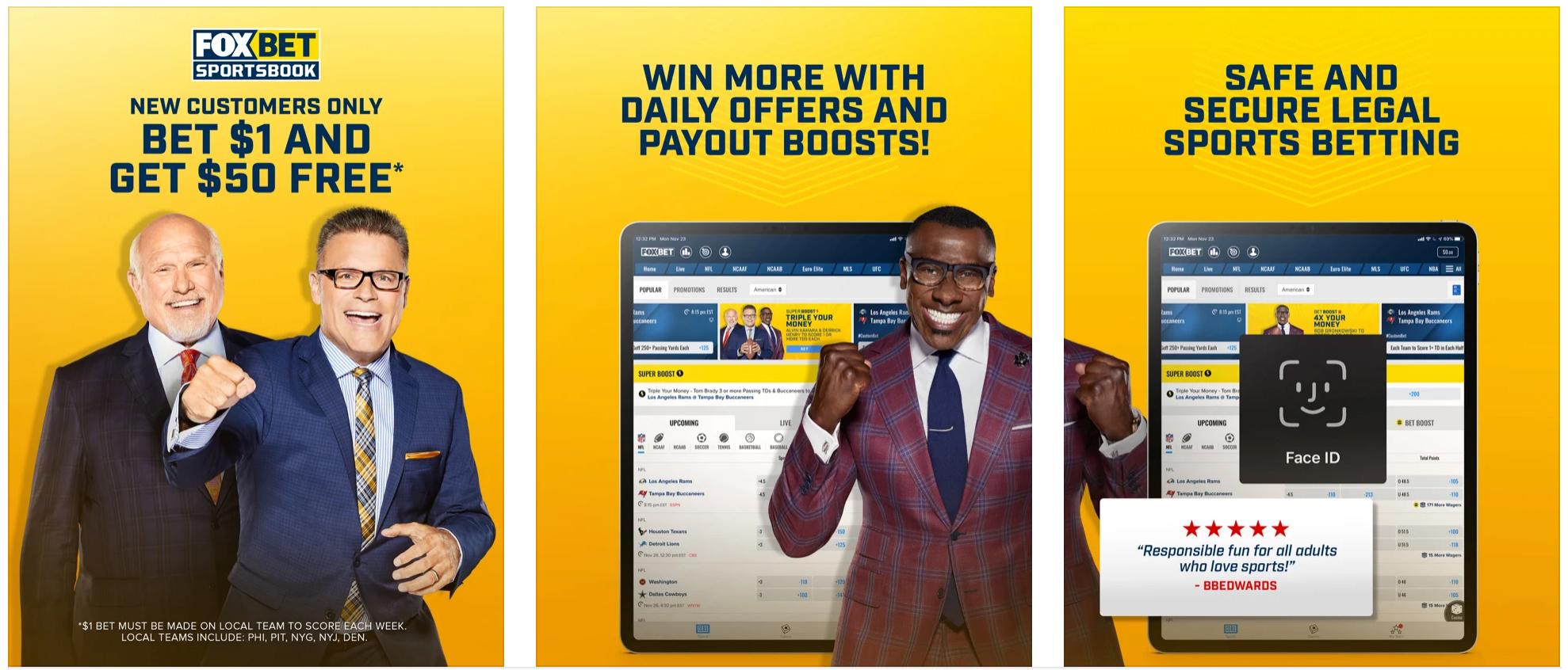FOX Bet Sportsbook Mobile App
