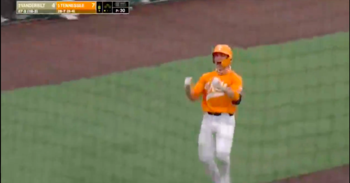Best day of his life? Tennessee's Evan Russell launches grand slam for 3rd HR of game - Saturday Down South