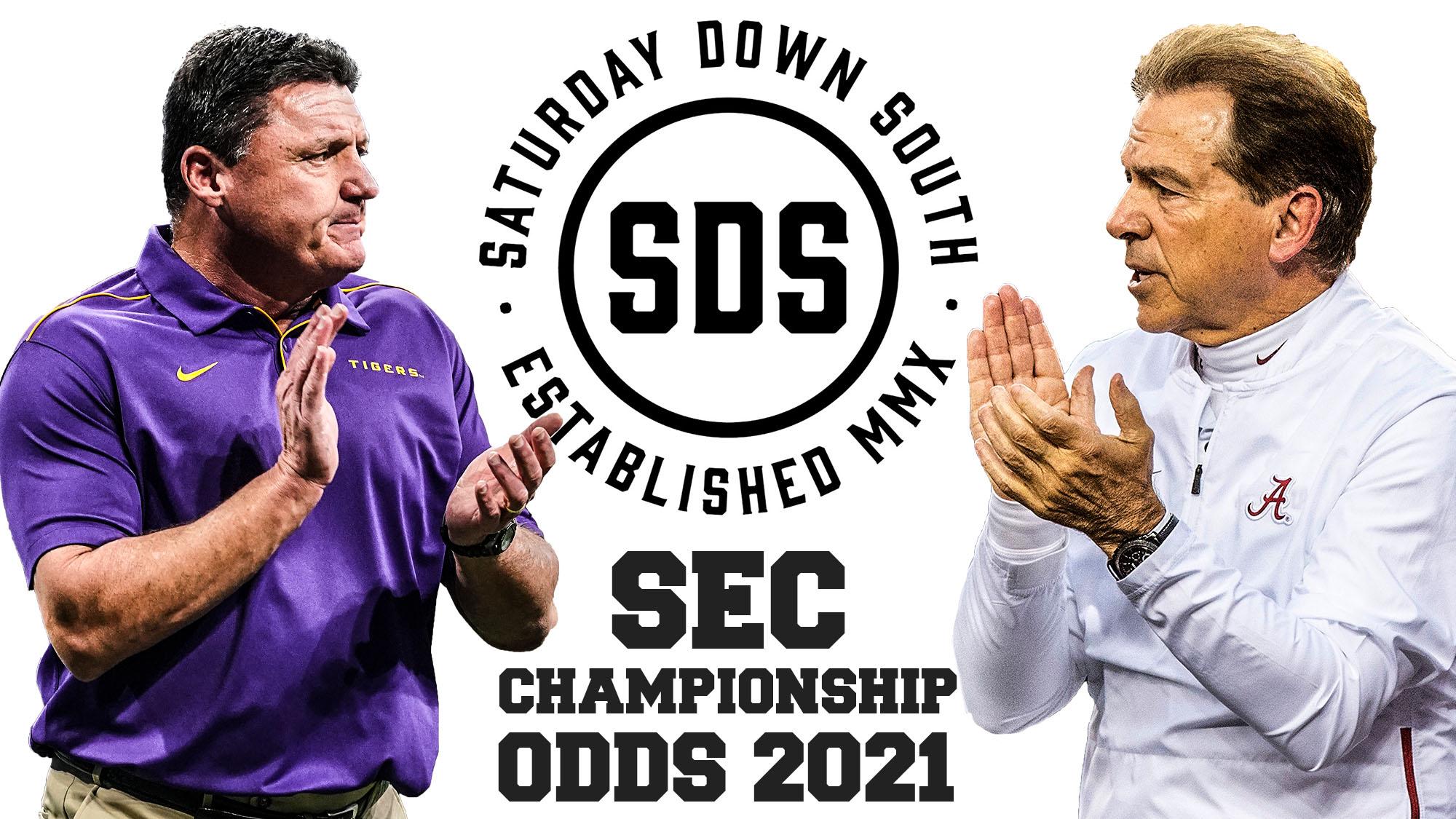 SEC Championship Odds 2021, Ed Orgeron, Nick Saban