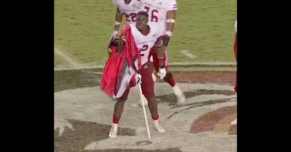 Jacksonville State plants flag at midfield following epic last-second win at Florida State - Saturday Down South